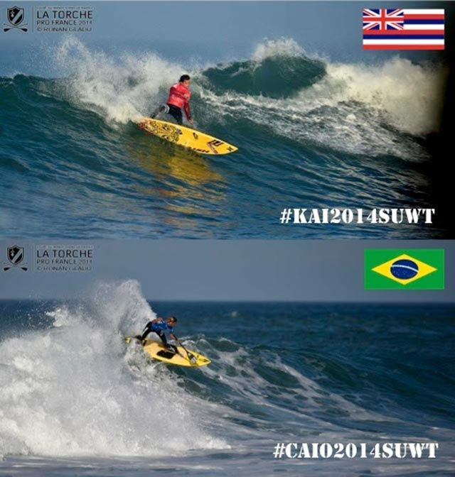 The Title Race intensifies as both Kai Lenny & Caio Vaz continue onto the Quarterfinals
