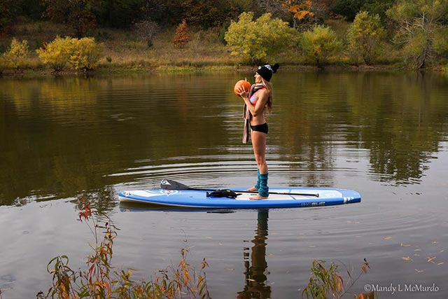 Pumpkin Exercise for SUP Fall fun 2
