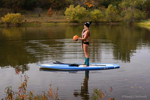 Pumpkin Exercise for SUP Fall fun 3