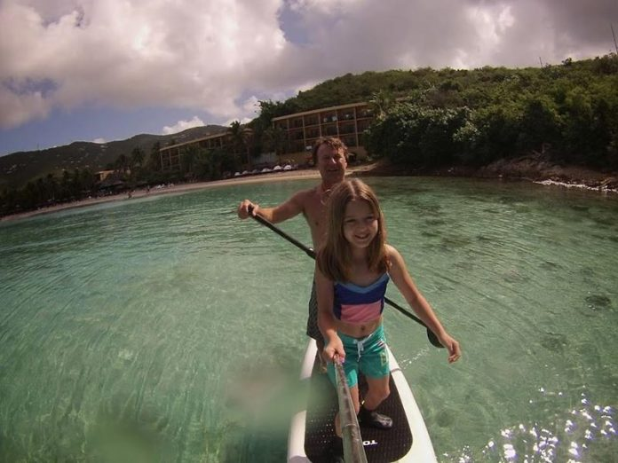 Matt MacClellan: Daddy-daughter Spring Break trip to St Thomas and St John USVI. Inflatable SUPs are always easy to pack in hockey bags for these trips and make the ultimate snorkeling destination vehicle.