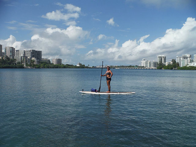 Raymond Rivera: SUP at the Condado Lagoon, San Juan, Puerto Rico... Nothing like a SUPer Day in the Caribbean in December!!!