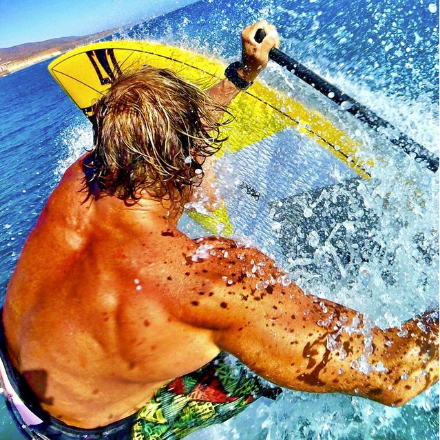 No matter the size or the conditions; water time is priceless. Loving the small simplicity of the new #gopro #HERO4Session in all I do. Get wet this weekend!! #naishsup