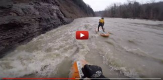 First Person View Of Fun NY River Sup Session