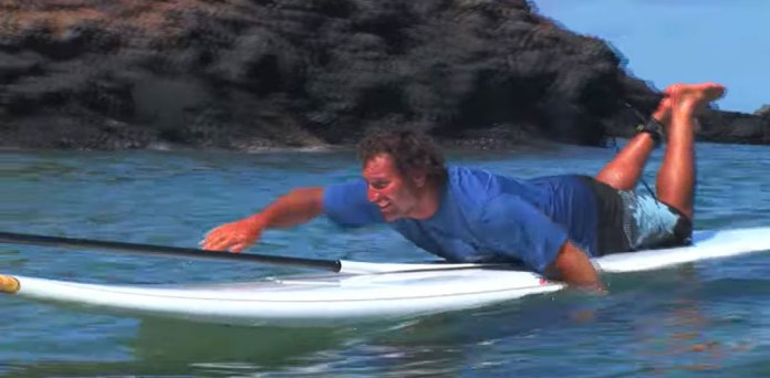 The Lay Down SUP Technique
