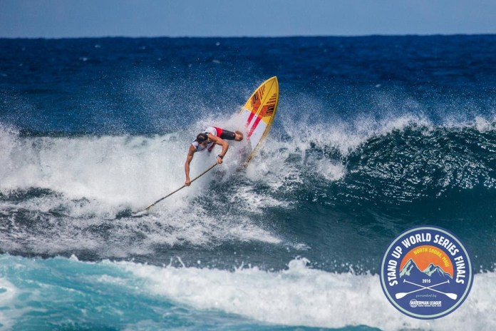 Kody Kerbox takes 3rd place in the Downwind Long Distance Race and shines in the Open Surfing exhibition clearly at home on Maui