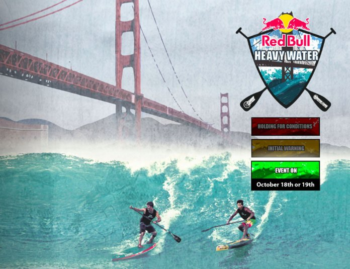 Red Bull Heavy Water is on: the event is set to kick off at 10am on Tuesday October 18th with 10ft surf forecast and ideal winds