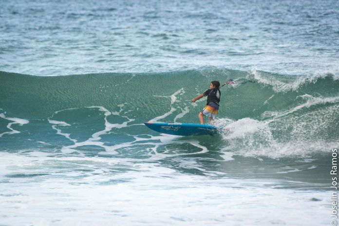 Alek Ramos, age 11, was the youngest but no less fierce competitor at the Charlie Miranda Surf Classic this year. Photo: Joselin Jos Ramos