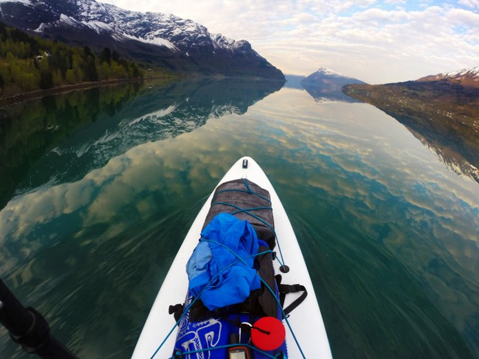 Gear packed for Sognefjord, Norway paddle Titus Kodzoman of SUP Norway