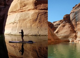 Standup paddle Lake Powell canyons Antelope Canyon Jordan Lapekas