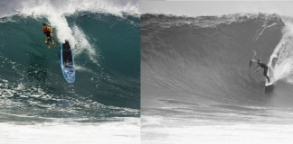 stand up paddle surfing the wedge