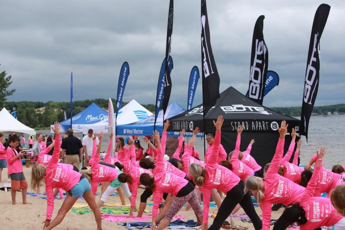 Standup for the Cure yoga