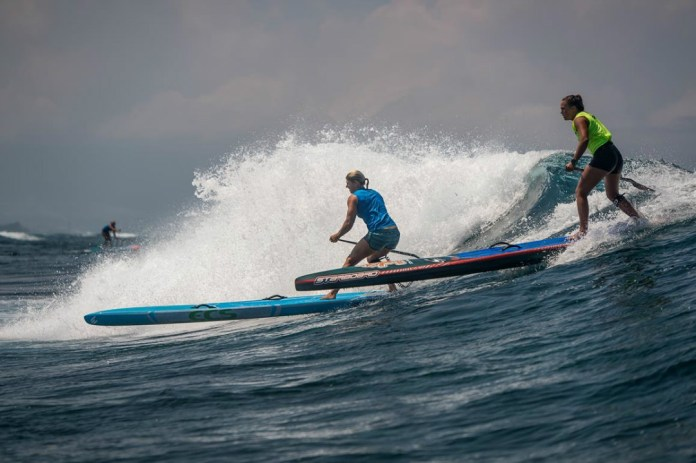 Terrene Black and Fiona Wylde surf spring Maui Pro AM