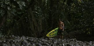 Josh Riccio F-One team rider surf banner