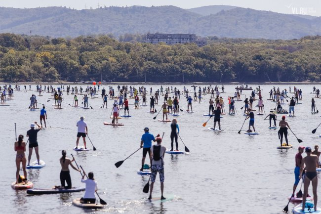 Russia SUP World Record attempt SUP parade