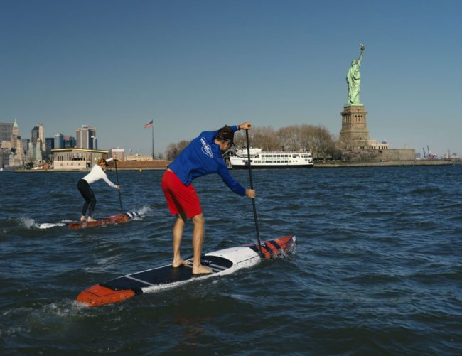 Candice Appleby Slater Trout APP World Tour statue of liberty