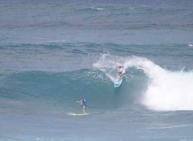Fiona Wylde APP World Tour Sunset Beach Pro top turn