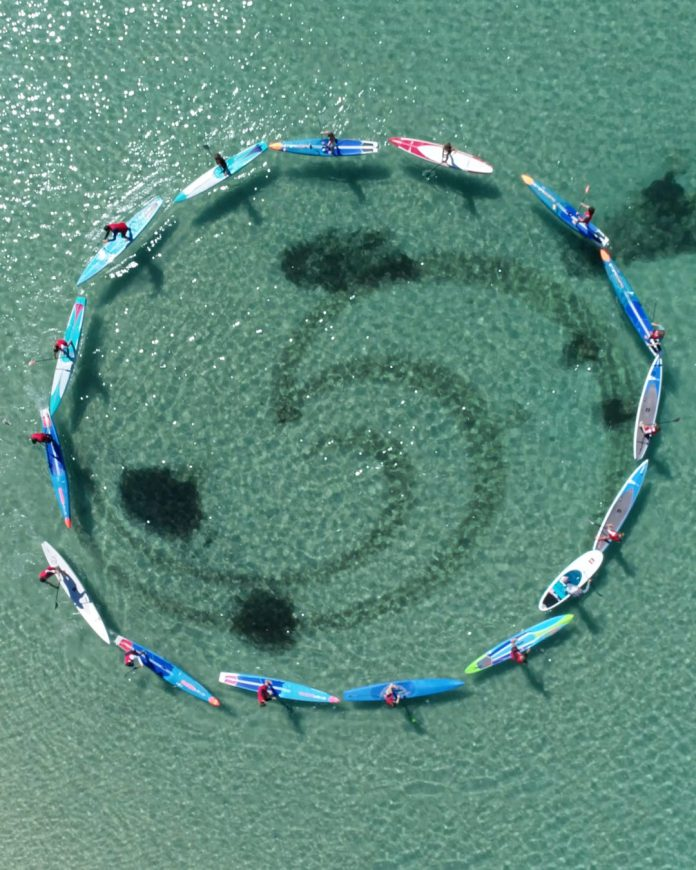 Cleanwave SUP circle Mallorca Spain Balearic Islands
