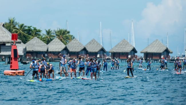 Air France Paddle Festival Tim McKenna Photography men elite sup race huts