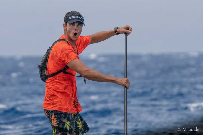 Maui to Molokai Holokai SUP race downwind
