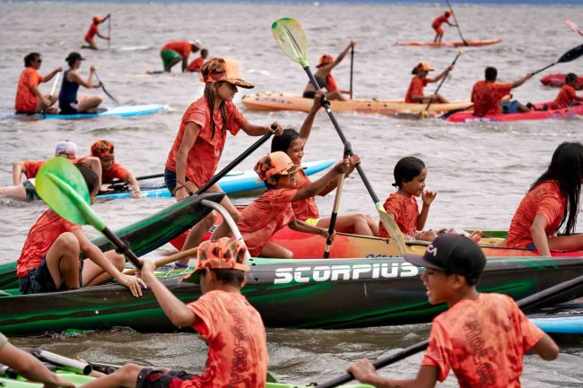 Molokai Holokai Paddle Festival in Hawaii