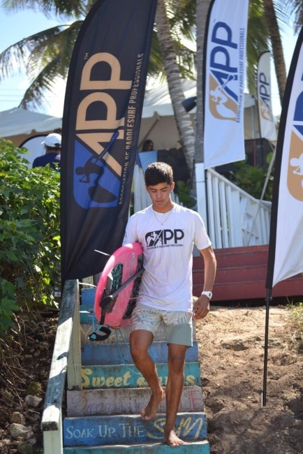 Max Torres APP World Tour Barbados Pro stairs SUP Surf