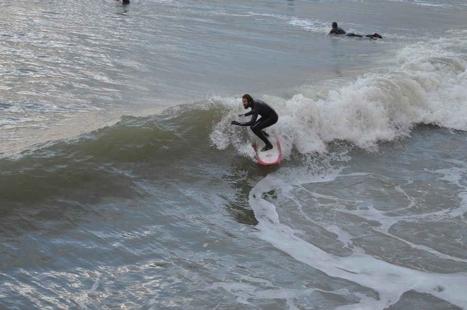 Fatstick surfing at Bournemouth