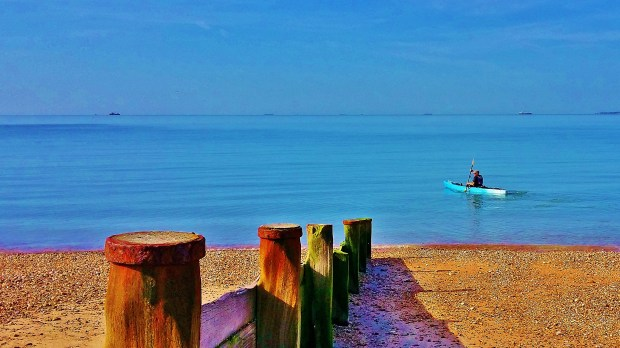 Hayling Island glass calm
