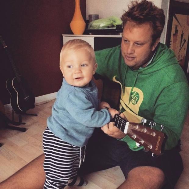 Reuben May and son Leo