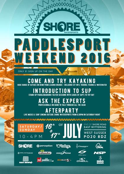 Paddle Sport Weekend flyer