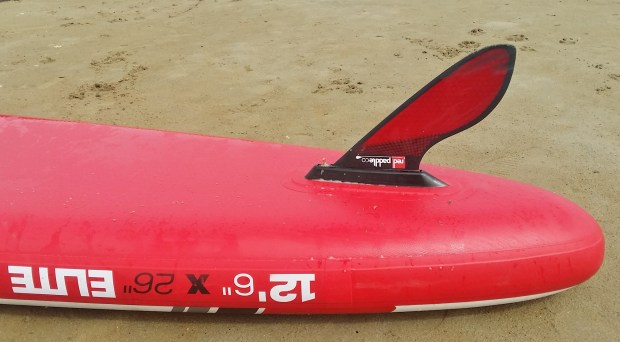 Red Paddle Co Elite 12.6ft fin configuration