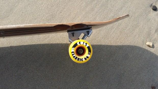 Lush Longboards X-flex wheels close up
