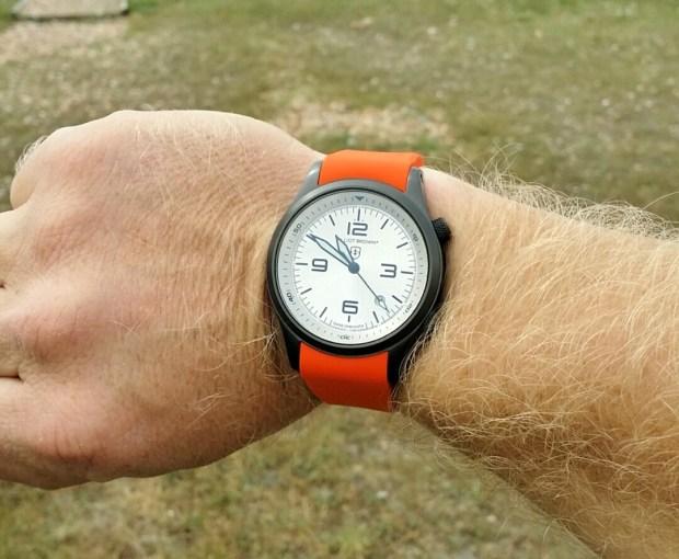 Elliot Brown Canford watch being worn