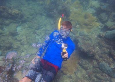 Brett snorkeling