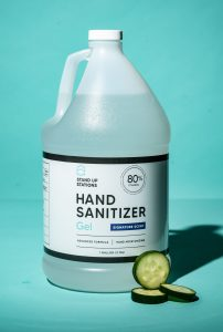 Hand Sanitizer 80% Ethanol - Cucumber Scent (1 Gallon)