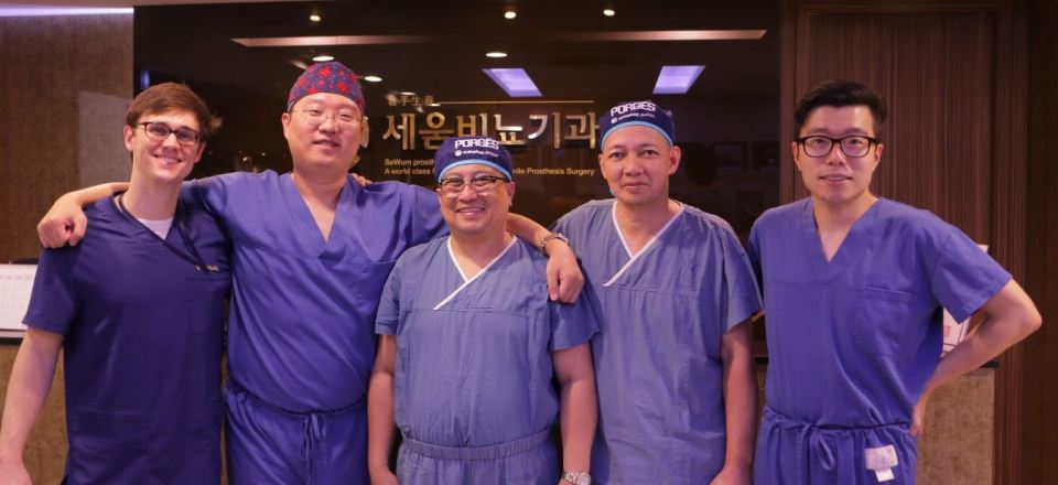 Dr. Park, Dr. Jun Gerial, Dr. Leo Baloloy Penile Implant Surgery in Asia Training Philippines and Seoul, South Korea