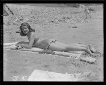 Revere-Beach-girl-sunbathing-1937-Leslie-Jones-i