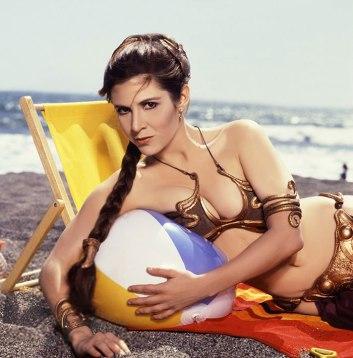 Princess-Leia-Bikini-Hot-Vintage-Photos-22-Beach-Ball