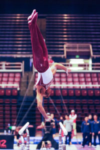 Men's gymnastics places second in MPSF as Modi earns top ...