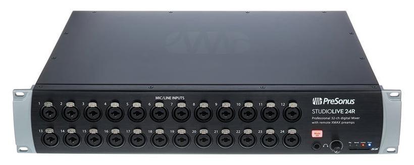 presonus studiolive 24r 46x26 digital rack mixer with 24 recallable xmax preamps