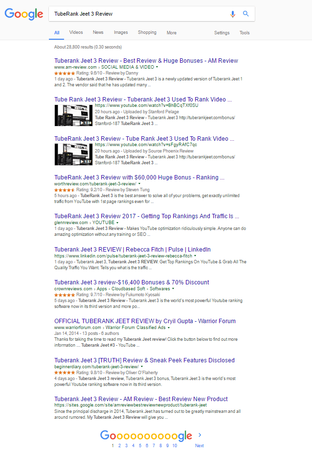 TubeRank Jeet 3 Review - Google Case Study