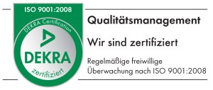 DEKRA Zertifikat ISO 9001:2008
