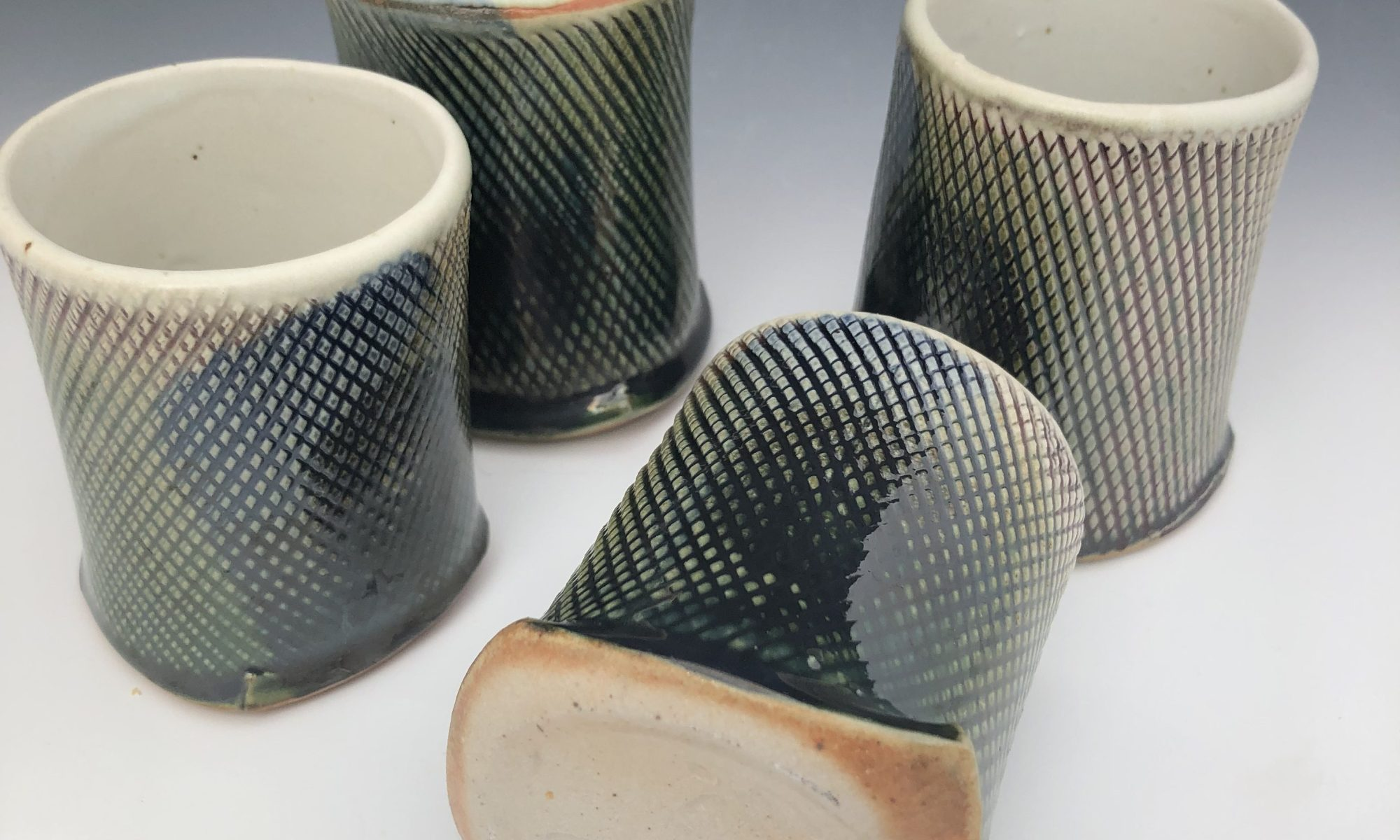 Expertly crafted copper green cups