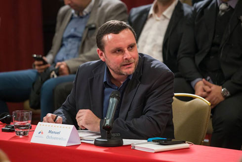 Мануел Оксенрајтер на конференцији у Београду