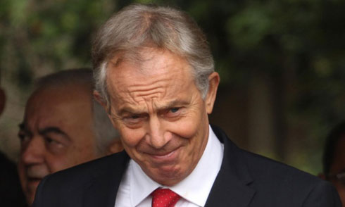 Tony Blair is also official envoy in the Middle East for the Quartet. Photograph: APAImages/Rex Features