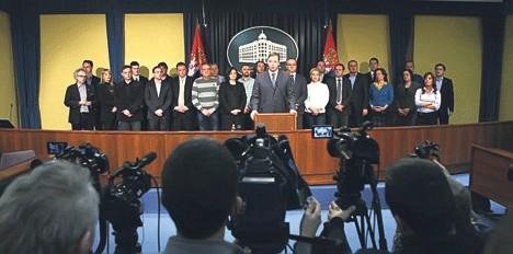 Очи у очи: Влада Србије и новинари (Фото: Фонет)