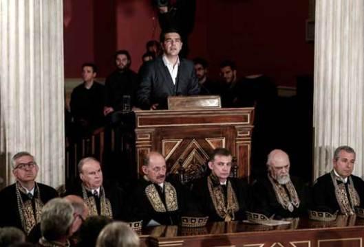 Athens, 25.03.2015 - грчки премијер на Универзитету у Атини поводом обележавања националног празника 25. марта - Дана независности, 194. годишњице подизања устанка против Отоманског царства: Alexis Tsipras