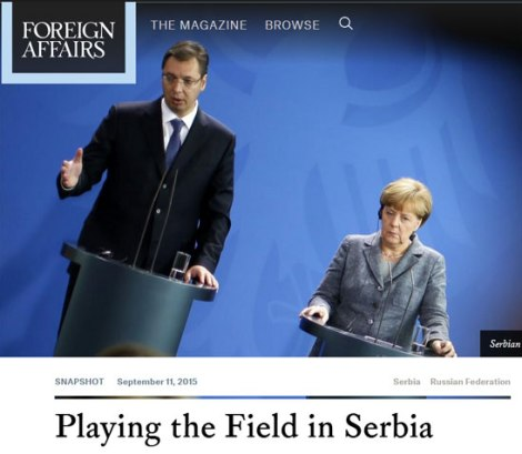 Изглед текста на сајту Форин аферса