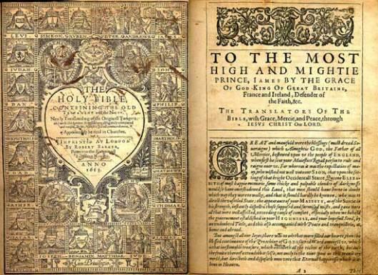 Библија краља Џејмса из 1613.
