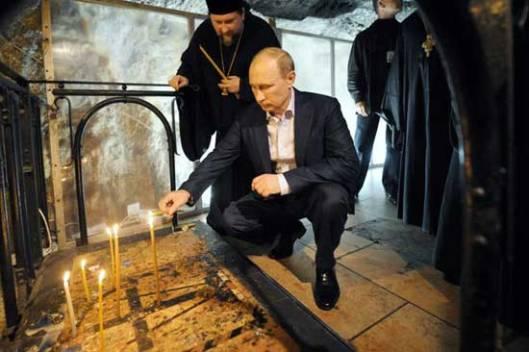 Путин у Цркви Христовог гроба у Јерусалиму