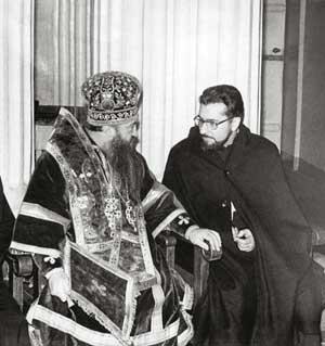Митрополит Никодим Ротов и језуита Мигуел Аринц, Лењинград 1971. године